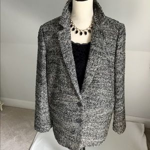 🍁JJill Chunky Tweed Blazer Jacket Size Medium